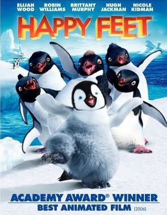 eerste mens film happy feet